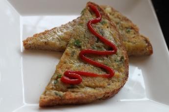 Stekt brød med potet